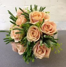 Peach Rose and Veronica Bridal